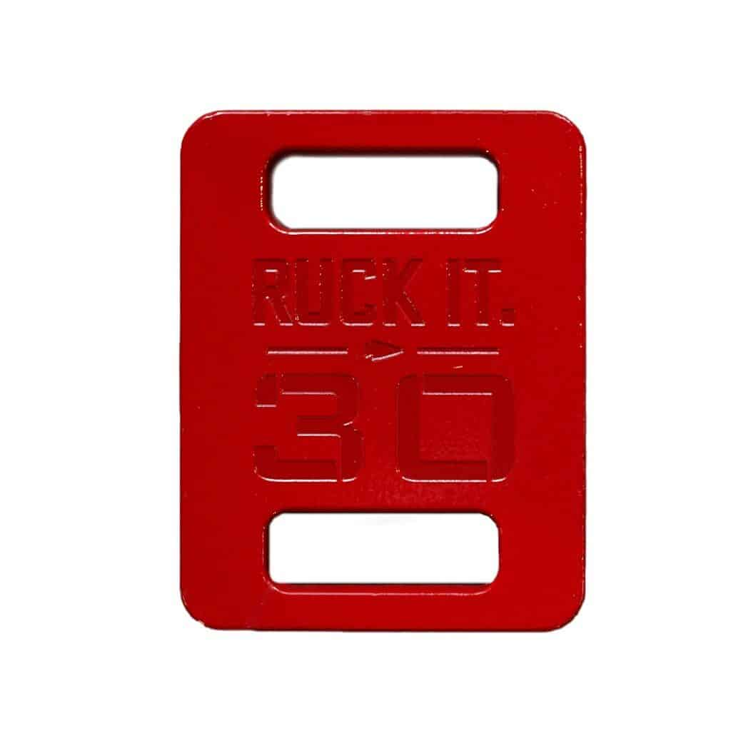 GORUCK Ruck Plate in Red Color (30 lb)
