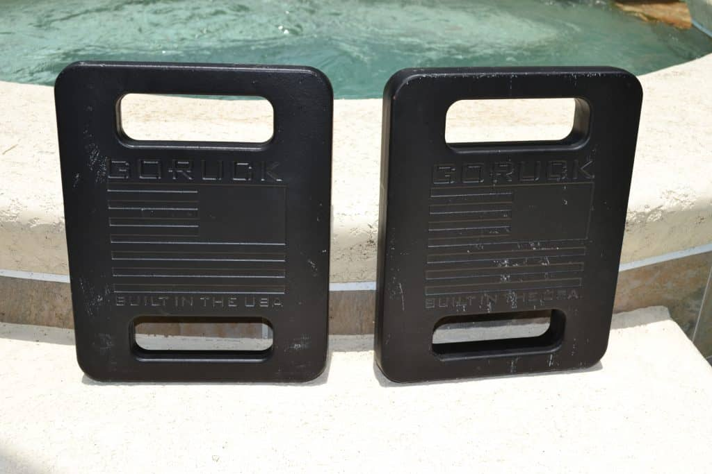 GORUCK Ruck Plates - a 20 Lb Plate and 30 Lb Plate side by side