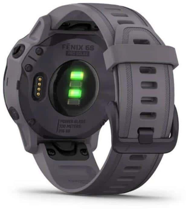 Garmin Fenix 6X Pro Solar Smartwatch back