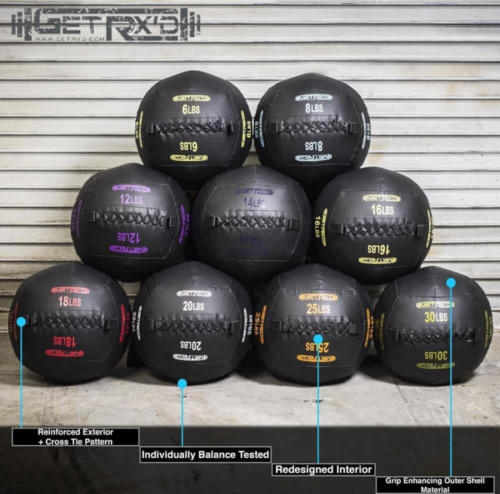 Get RX'd Premium Wall Balls different weights