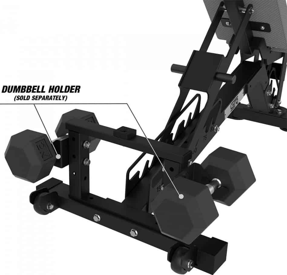 Get Rx'd FIDAB-2 Adjustable Bench dumb bell holder