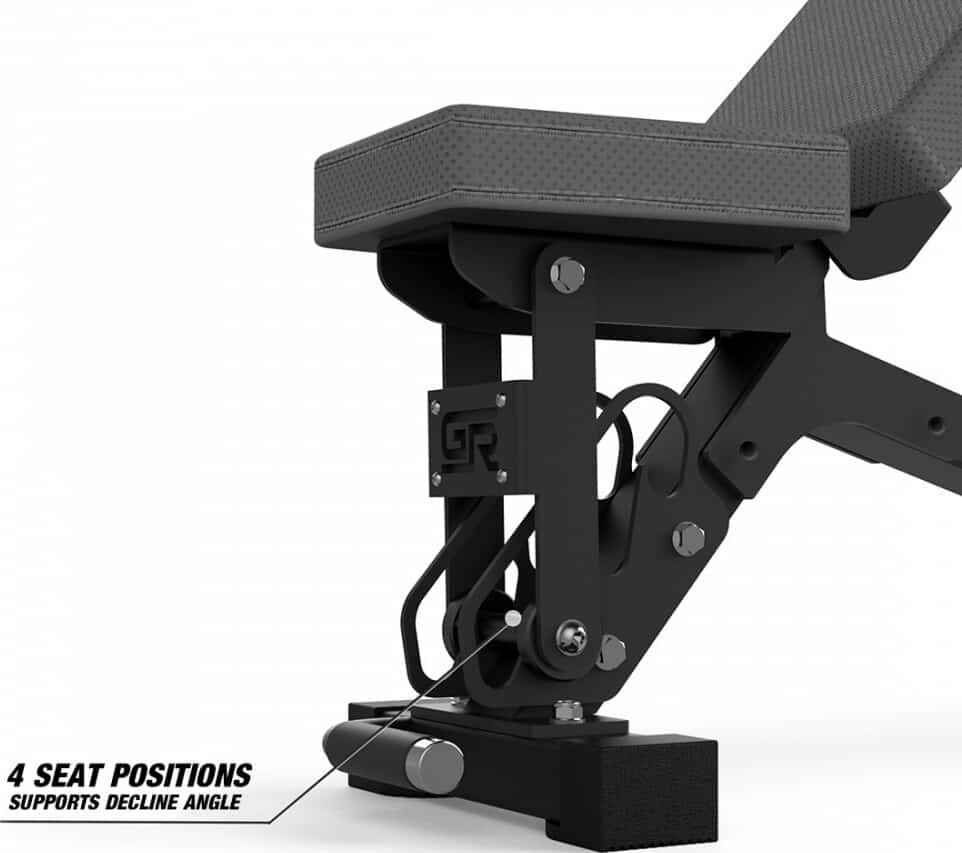 Get Rx'd FIDAB-2 Adjustable Bench four seat positions