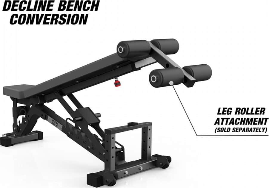 Get Rx'd FIDAB-2 Adjustable Bench leg roller attachment