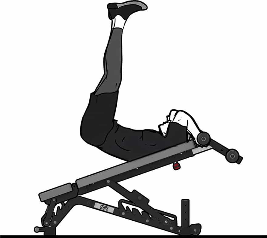 Get Rx'd FIDAB-2 Adjustable Bench sample exercise 1