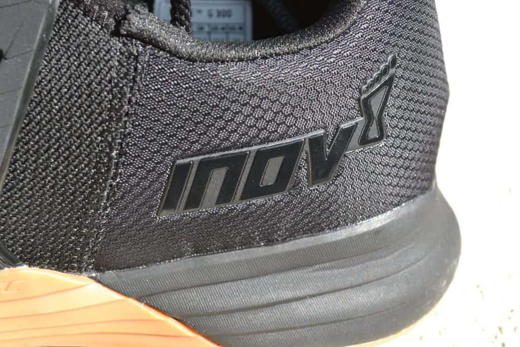 Logo Closeup heel of the Inov-8 F-Lite G 300 Training Shoe