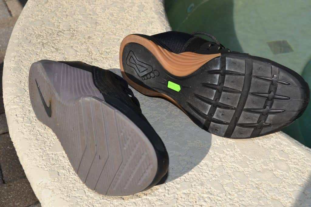 Nike Metcon 5 vs Inov-8 F-Lite G 300 Training Shoe sole to sole