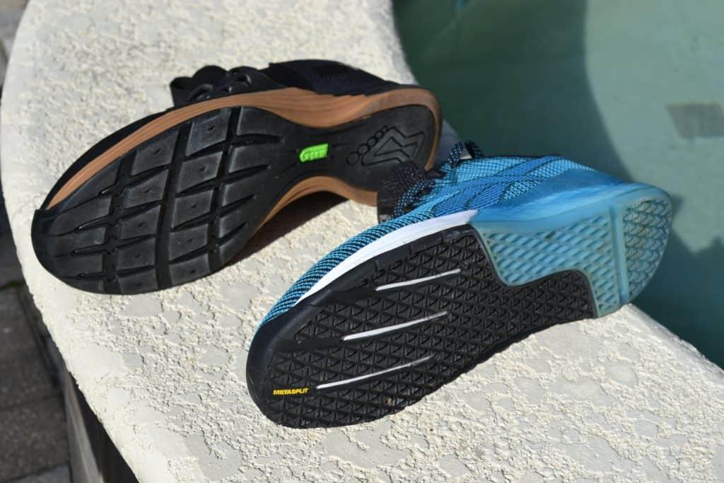 Reebok Nano 9 versus Inov-8 F-Lite G 300 Training Shoe - sole to sole