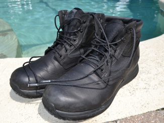 GORUCK MACV-1 Boots in black - these have IRON Laces (unbreakable laces)