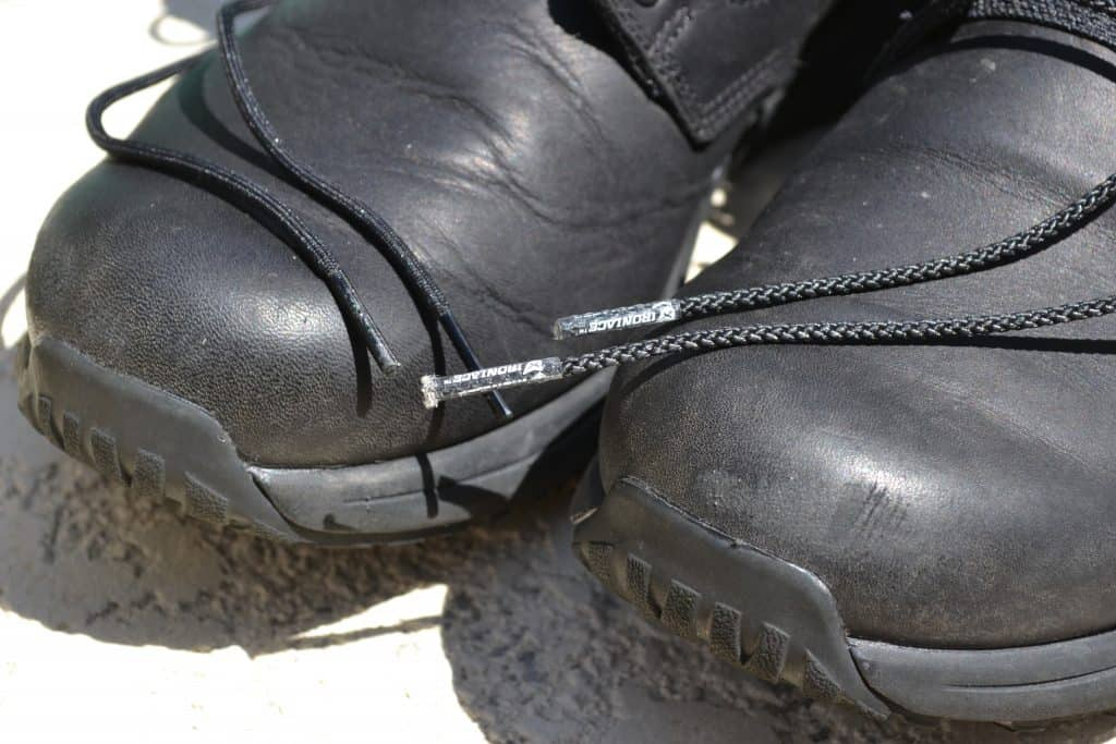 IRON LACES - unbreakable boot laces on GORUCK MACV-1 Ruck Boots -  Tips on Toe 4