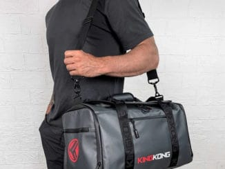 King Kong Apparel ZONE28 Duffel with a user