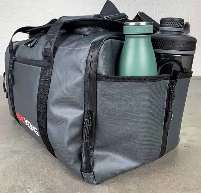 King Kong Apparel ZONE28 Duffel with water bottles
