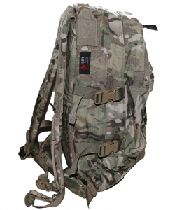 Side view of the London Bridge Trading (LBT) 3 Day Assault Pack has a lot of features that are desired for a good rucksack.
