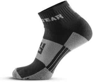 MudGear 1 4 Crew Socks - Black Gray left side view