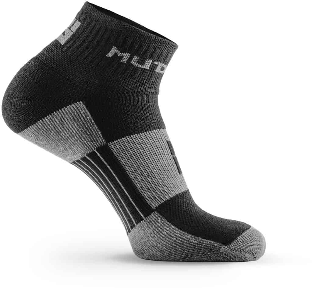 MudGear 1 4 Crew Socks - Black Gray right side
