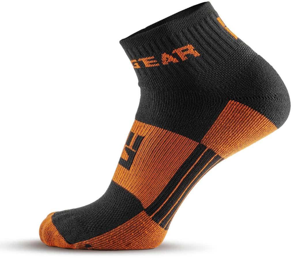 MudGear 1 4 Crew Socks - Black Orange side view left