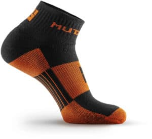MudGear 1 4 Crew Socks - Black Orange side view right