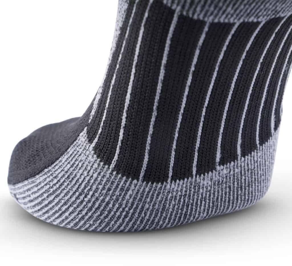 MudGear No-Show Running Socks - Black Gray closeup
