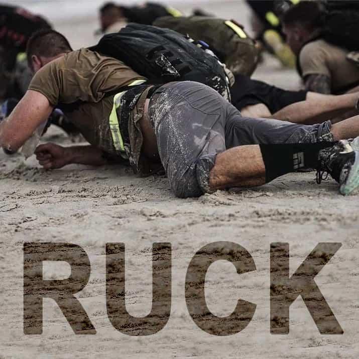 MudGear Ruck Sock Black Gray rucking