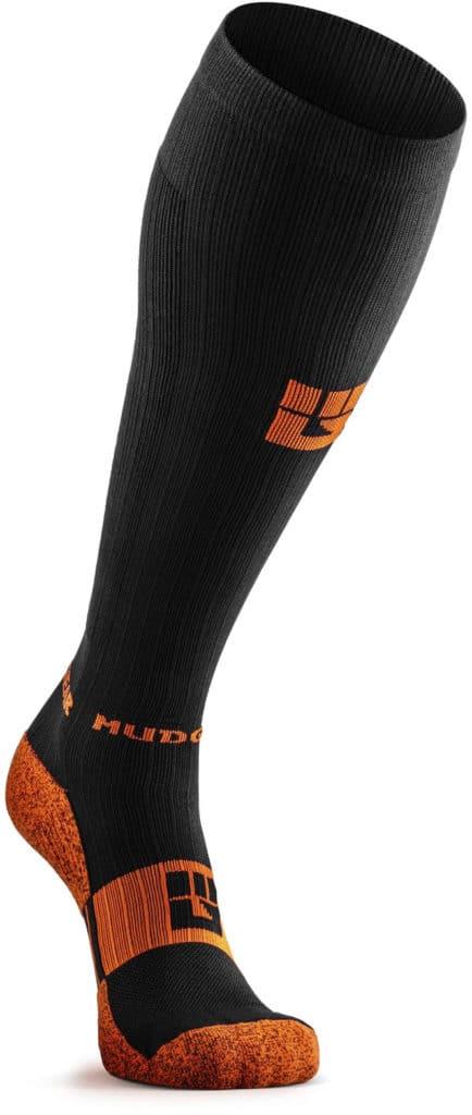 MudGear Tall Compression Socks Black Orange front