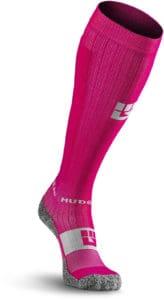 MudGear Tall Compression Socks Pink Gray front