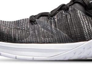One of several synthetic overlays to make the Nike Metcon Flyknit 3 even more durable than before
