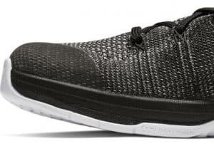 Reinforced skin overlay on the Nike Metcon Flyknit 3 - this is for both stability and durability