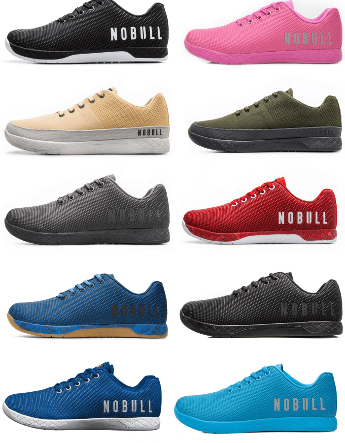 All Styles and Colors of the NOBULL Trainer, including both SuperFabric and Canvas models