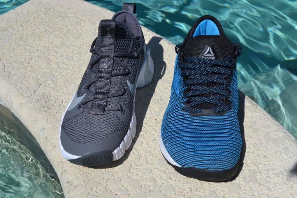 Nike Free Metcon 3 versus Reebok Nano 9 - Front View