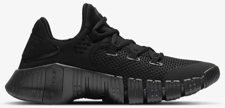 Nike Free Metcon 4 Black Volt Black right side view