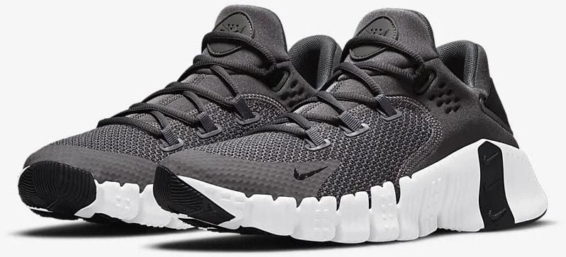 Nike Free Metcon 4 Iron Gray quarter view pair
