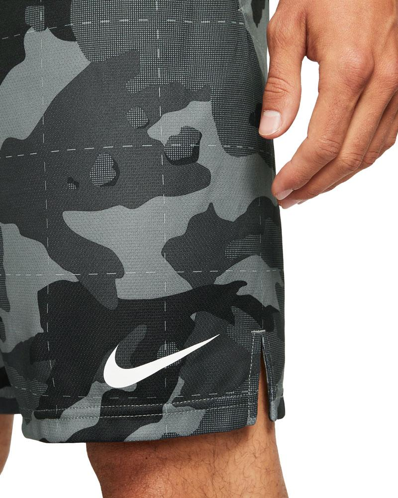 Nike Mens Dri-FIT Camo Shorts 5.0 smoke gray black details