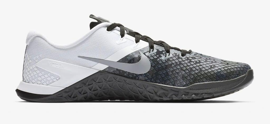 8ab0c6865f2a Right side of the Nike Metcon 4 XD Black Anthracite White Wolf Grey
