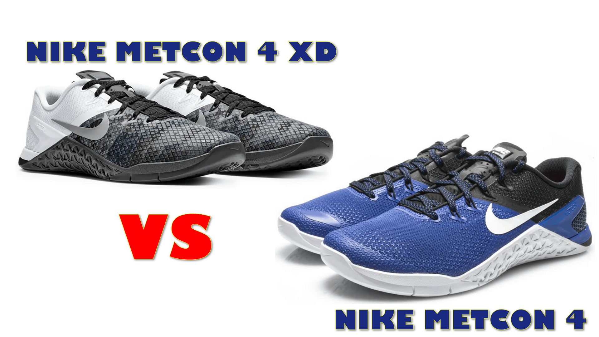 6c0855a1dba5 Nike Metcon 4 XD vs Nike Metcon 4 (NEW FOR 2019!)