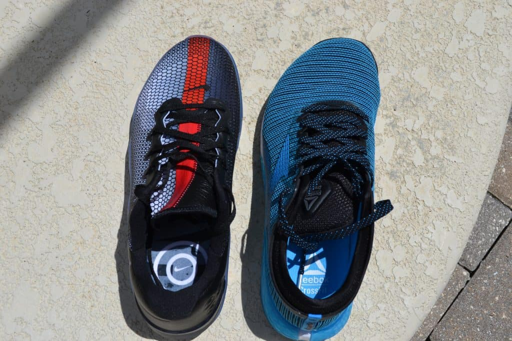 Nike Metcon 5 vs Reebok Nano 9 - toebox comparison