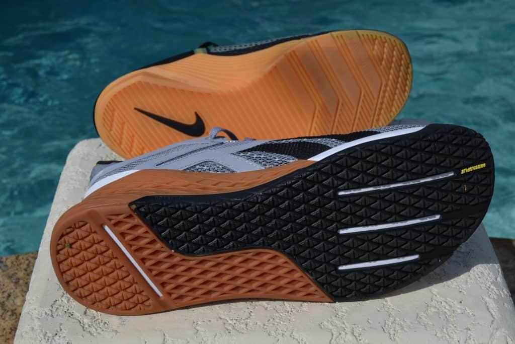 Nike Metcon 6 Versus Reebok Nano X outsole to outsole