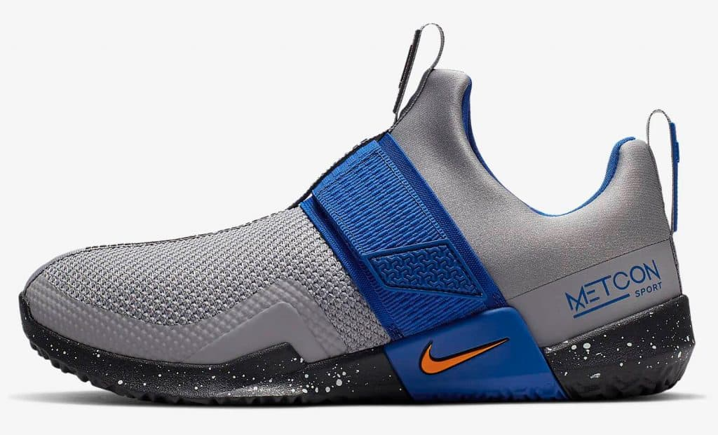Side view of the Nike Metcon Sport Cross Training Shoe is designed for heavy weightlifting like all Metcons, but is updated for increased agility during explosive movements and speed drills.