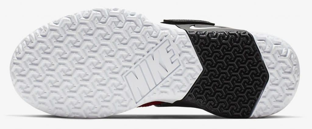 Sole of the Nike Metcon Sport Cross Training Shoe is designed for heavy weightlifting like all Metcons, but is updated for increased agility during explosive movements and speed drills.