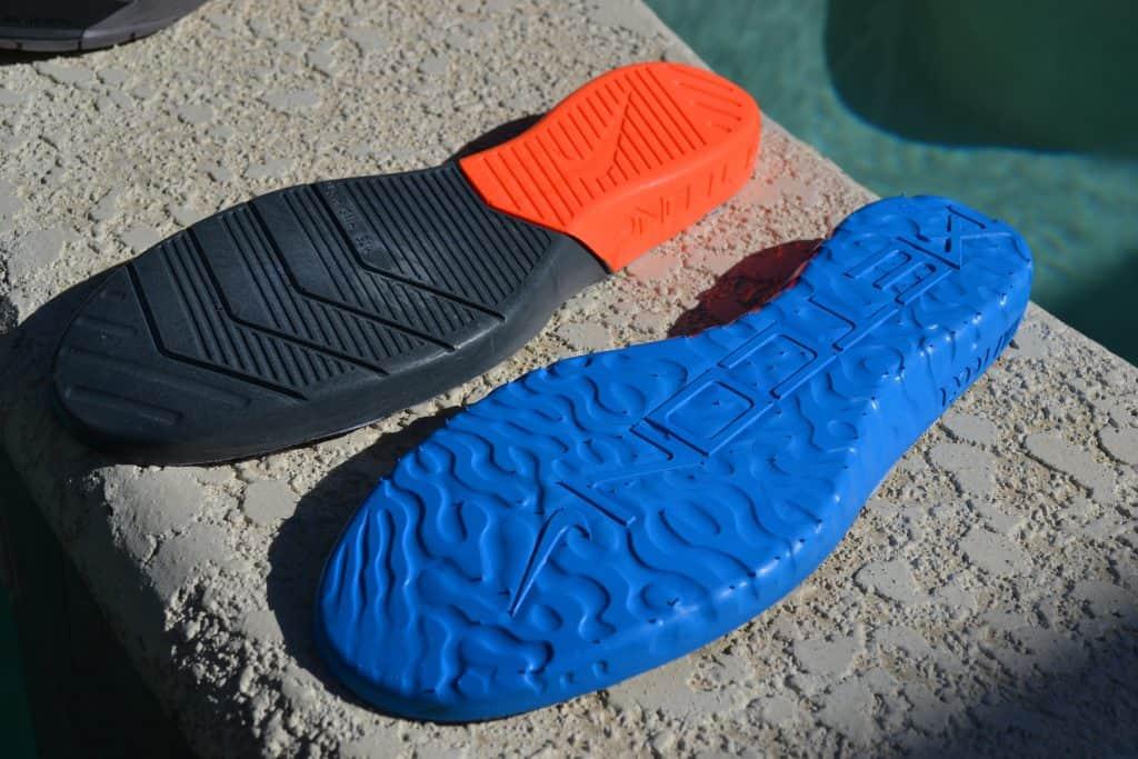 Dual density foam of the midsole - Nike Metcon 5 vs Nike React Metcon