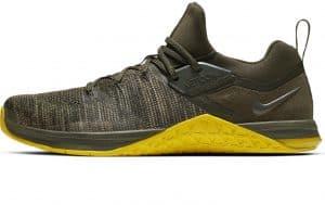 Nike Metcon Flyknit 3 Mens in Sequoia / Bright Citron