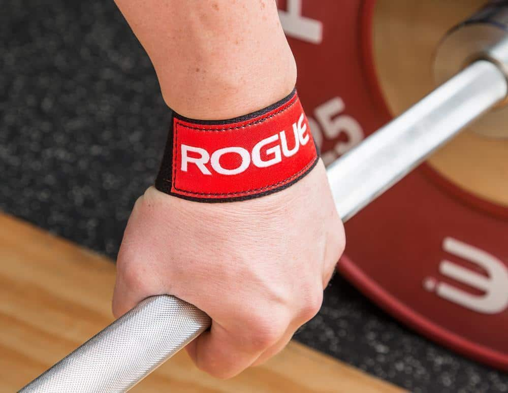 Ohio Lifting Straps hand on barbell