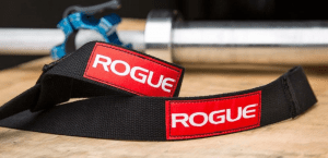 Rogue Ohio Lifting Straps straps with barbell Black