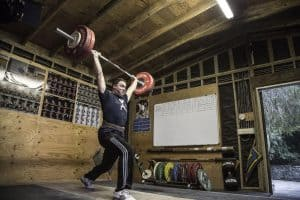 The Rogue Oly Ohio Weightlifting belt in action