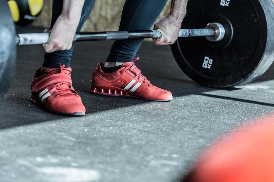 Olympic weightlifting shoes (aka lifters) make it easier to reach depth