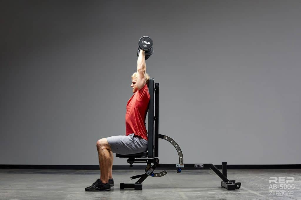 The Rep AB-5000 ZERO GAP Adjustable Bench can adjust to a full 90 degrees