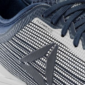 Closeup of the Flexweave material used in the upper of a Reebok Nano 8 cross training shoe.