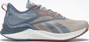 Reebok Floatride Energy 3 Adventure Womens Running Shoes Modern Beige Blue Slate Gable Grey right side view