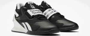 Reebok Legacy Lifter II Women's Weightlifting Shoes in Black / White / Pure Grey 6 - quarter