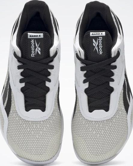 Reebok Nano X Womens Training Shoes Black Ftwr White Ftwr White top view