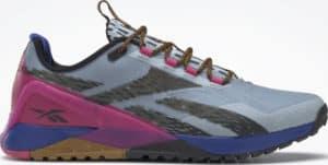 Reebok Nano X1 Adventure Womens Shoes Gable Grey  Bright Cobalt  Pursuit Pink side view right