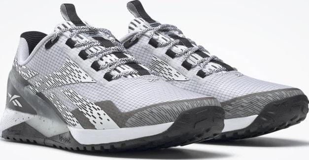 Reebok Nano X11 Adventure Mens Shoes White Core Black White quarter view pair